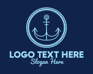 Cruise - Anchor Nautical Emblem logo design