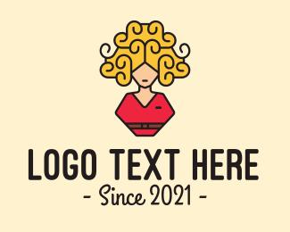 Hair Product - Woman Cabin Crew logo design