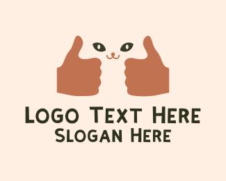 Thumb - Good Cat Thumbs Up logo design