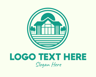 Bungalow - Green Cottage House logo design