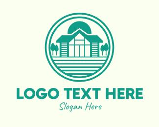 Cottage - Green Cottage House logo design