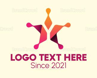 Celebrity - Gradient Star logo design