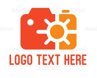 Cameraman - Orange Solar Camera logo design
