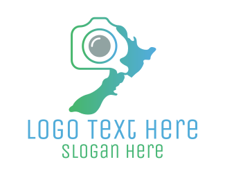 Camera - New Zealand Photography logo design