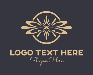 Ornamental - Elegant Ornamental Flower logo design