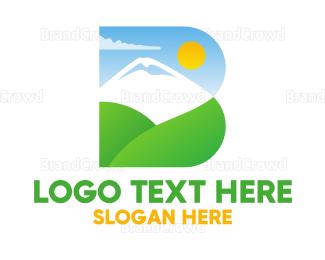 Climber - Bold Landscape B logo design