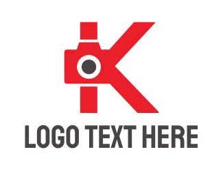 Photo Booth - Red K Camera logo design