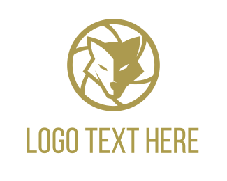Shutter - Wolf Photo logo design