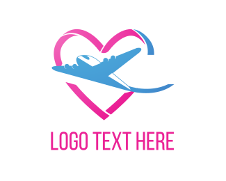 Honeymoon - Love & Flight logo design