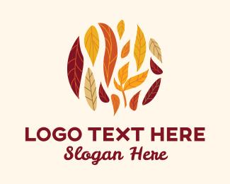 Autumn - Natural Autumn Leaves logo design