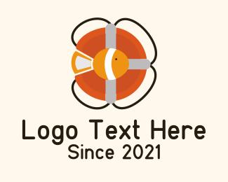 Lifeguard - Life Buoy Fish logo design