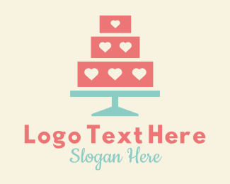 Cake - Heart Cake Bakery logo design