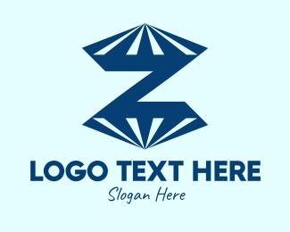 Diamonds - Blue Diamond Letter Z logo design