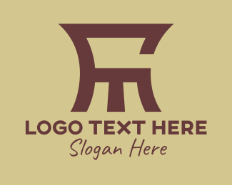 Sit - Abstract Brown F & M  logo design