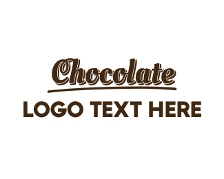 Brown Cupcake - Dark Chocolate  logo design