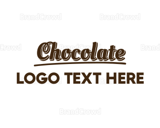 Chocolate - Dark Chocolate  logo design