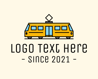 Train - Wire City Train logo design