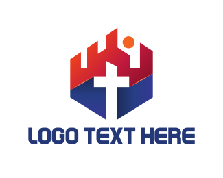 God - Church Cross logo design