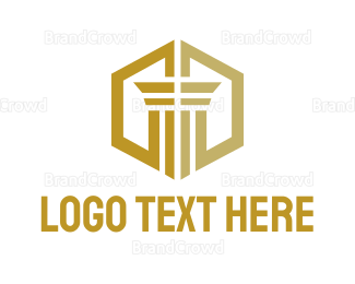 """Gold Hexagon Pillar"" by podvoodoo13"