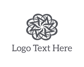 Ottoman - Grey Abstract Flower logo design
