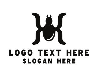 Math - Spider Parentheses logo design