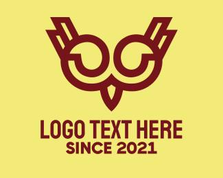 Online Course - Maroon Owl logo design