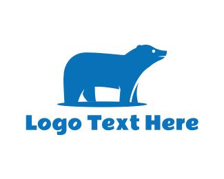 Winter - Blue Polar Bear logo design