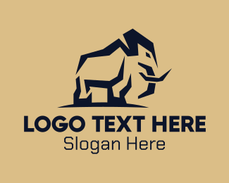 Africa - Wild African Elephant logo design