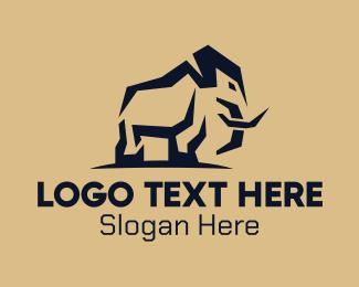 Trunk - Wild African Elephant logo design