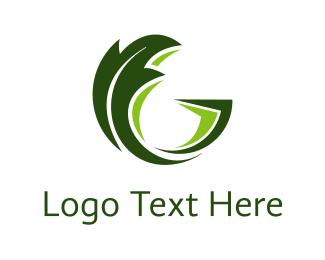 Friendly - Leaf Letter G logo design