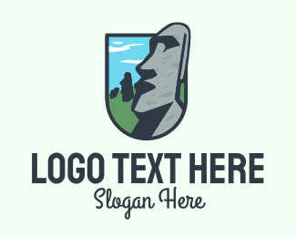 Tourist Attraction - Easter Island Emblem logo design