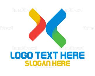 Multicolor - Multicolor Letter X logo design