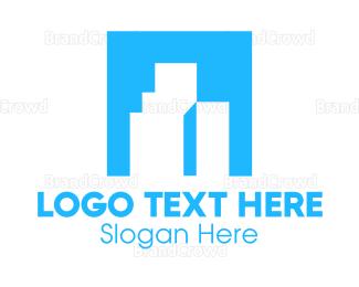 Build - Blue Company Building logo design