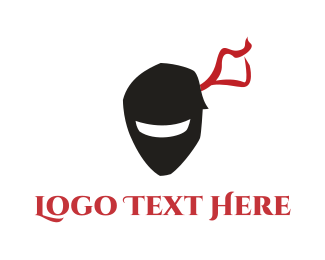 Gangster - Ninja Mask logo design