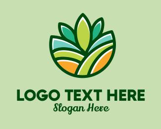 Organic Farm - Nature Garden Farm logo design