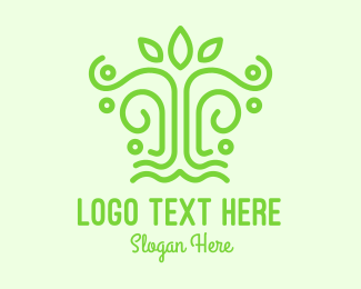 Shrub - Green Minimalist Tree logo design