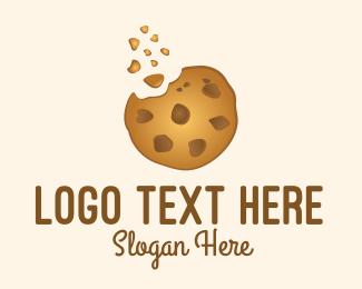 Delicious - Choc Chip Cookie Biscuit logo design