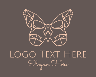 Luxury Brand - Geometric Butterfly logo design