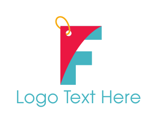 Bargain - Letter F Coupon logo design
