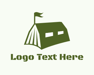 Tent - Military Book logo design