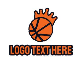 Mvp - Basketball King Crown logo design