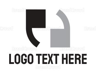 Double - Double Apostrophe  logo design