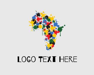 Flag - Africa Color logo design