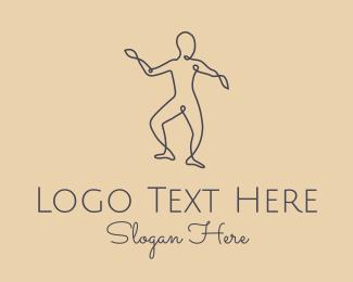 Fitness - Wellness Yoga Pose logo design