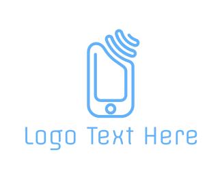 Wireless - Phone Signal logo design