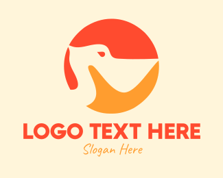 Pelican - Blue Pelican Circle logo design
