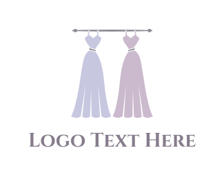 Marriage - Dress Duo logo design