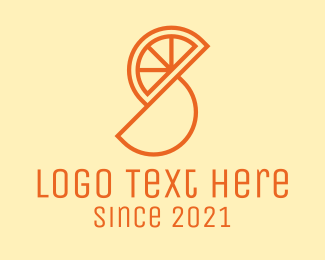 Lemon Juice - Orange Fruit Slice  logo design