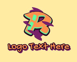 Graffiti Art - Graffiti Art Letter R logo design
