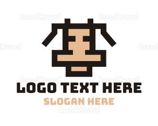 Animation - Pixel Cow logo design